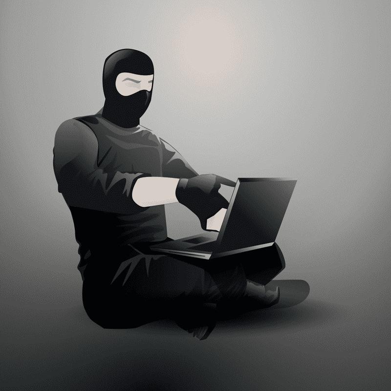 Website Hacker with Laptop