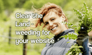 Woman holding weeds