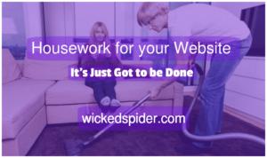 Housework for your WordPress Website